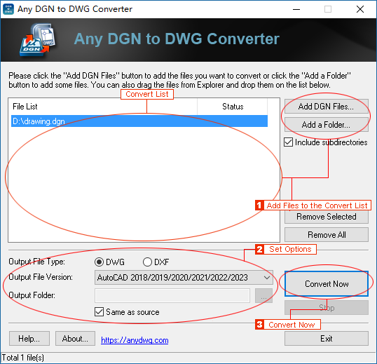 DGN to DWG Converter - DGN to DXF Converter