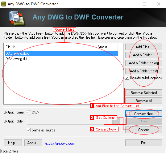Step-by-Step Guide to converting DWG to DWF