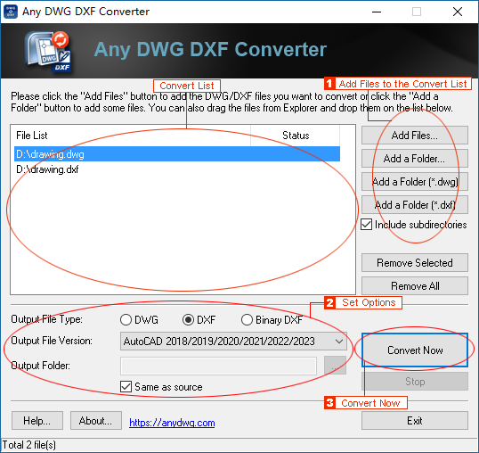 Step-by-Step Guide to converting DWG to DXF