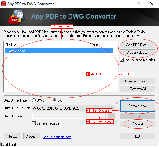 Step-by-Step Guide to converting PDF to AutoCAD/CAD